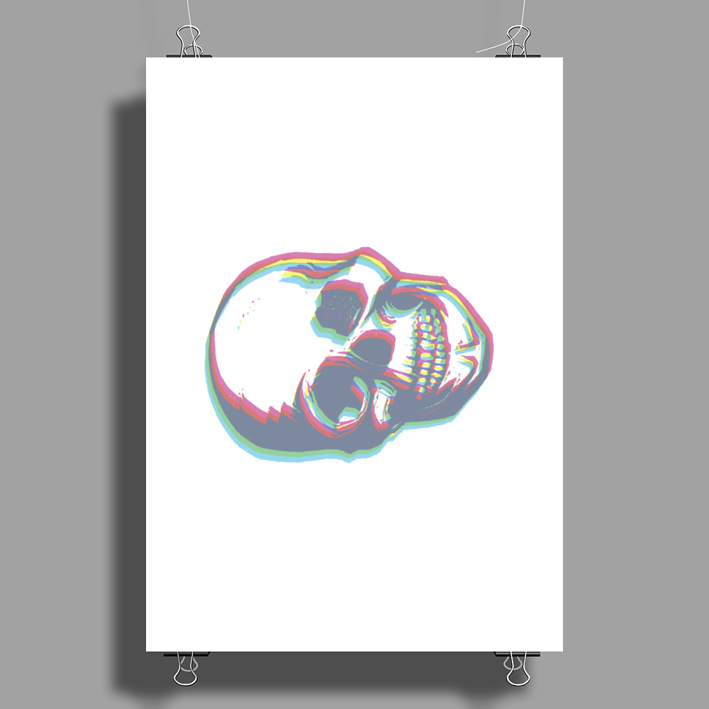 Watch 3D Skull Poster Print (Portrait)
