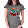 Watch out for shark Womens Fitted T-Shirt