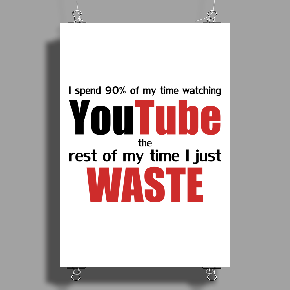 Watching YouTube Poster Print (Portrait)