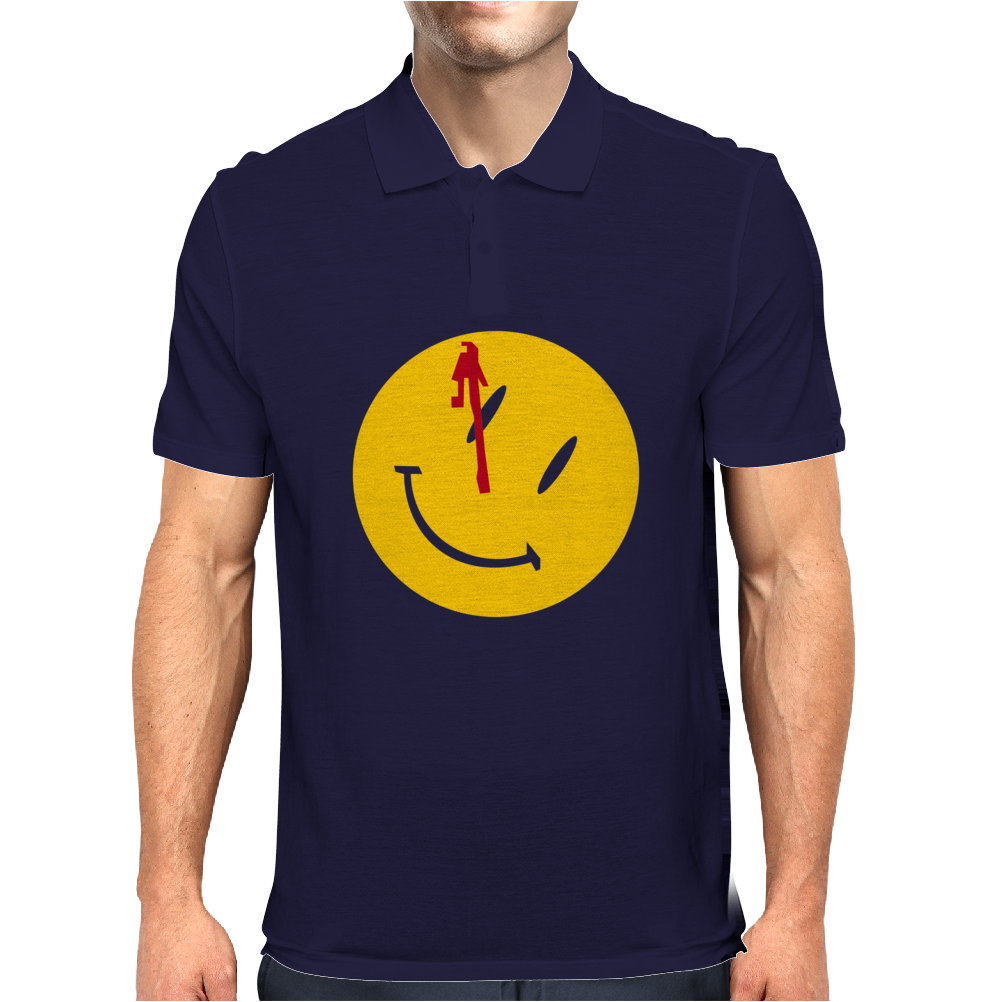 Watchmen Comedian Rorschach Comic Adult Movie Mens Polo