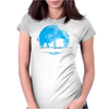 Water Moonwalk Womens Fitted T-Shirt