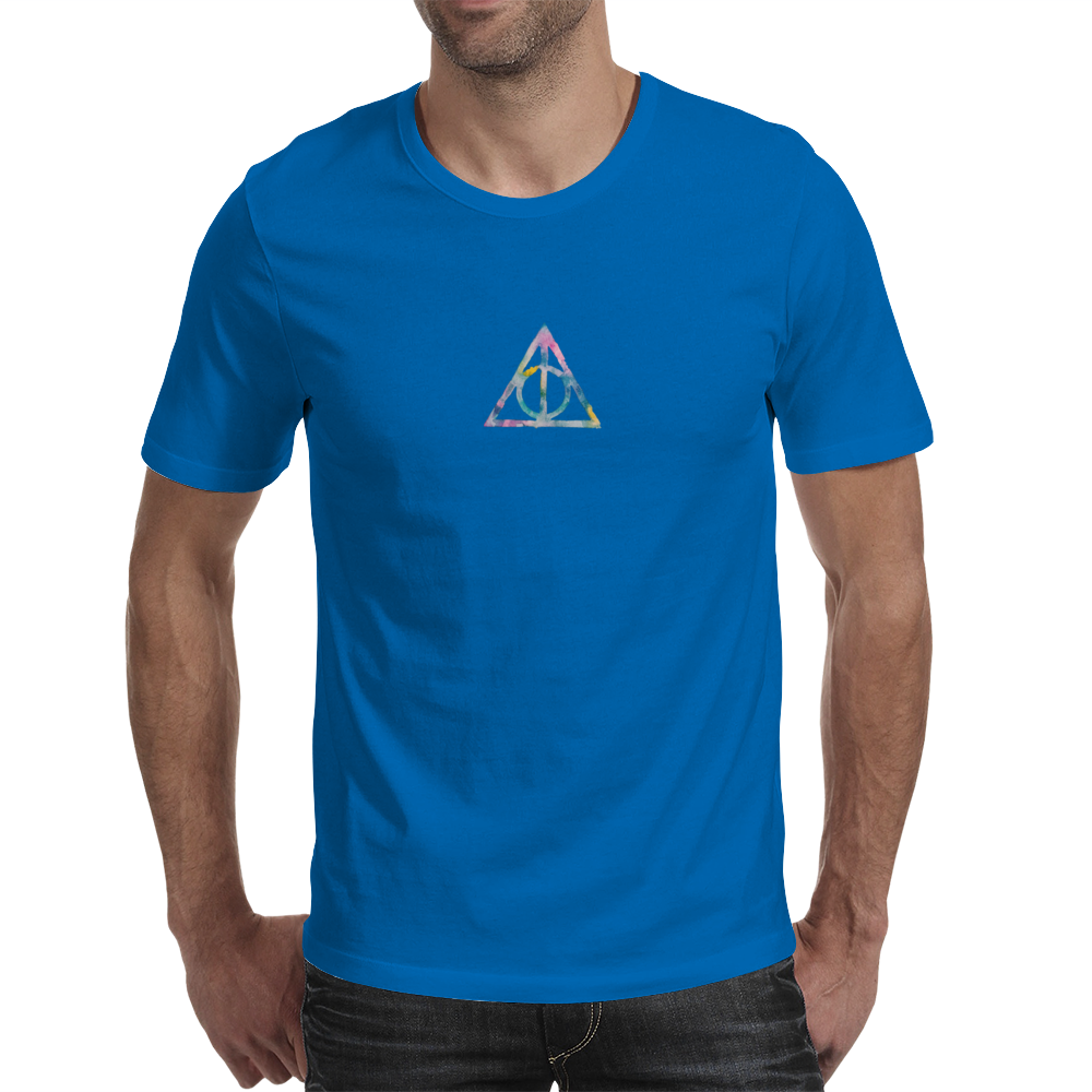 Watercolor Deathly Hallows 2 Mens T-Shirt