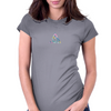 Watercolor Deathly Hallows 2 Womens Fitted T-Shirt