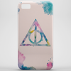 Watercolor Deathly Hallows Phone Case