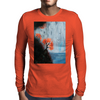 Waterfall with Birds Mens Long Sleeve T-Shirt