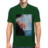 Waterfall with Birds Mens Polo