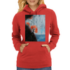 Waterfall with Birds Womens Hoodie
