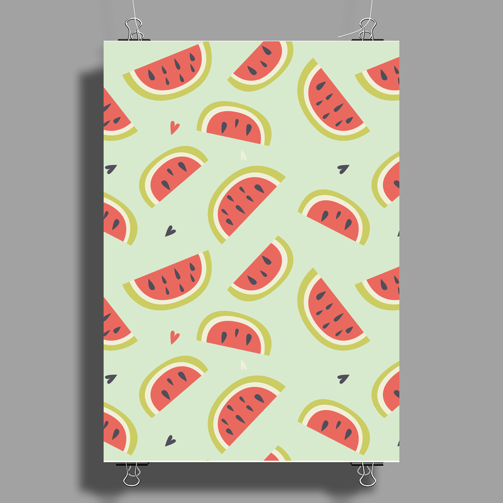 Watermelon pattern Poster Print (Portrait)