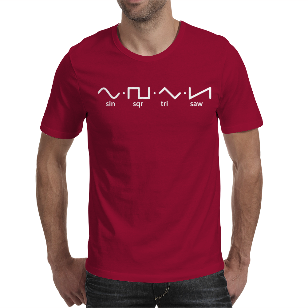 Waveforms Mens T-Shirt