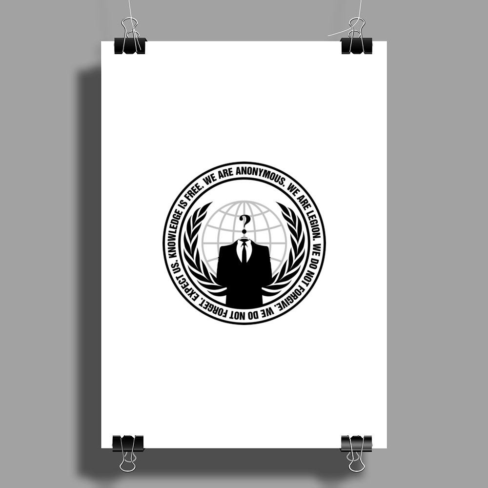 We Are Anonymous Poster Print (Portrait)