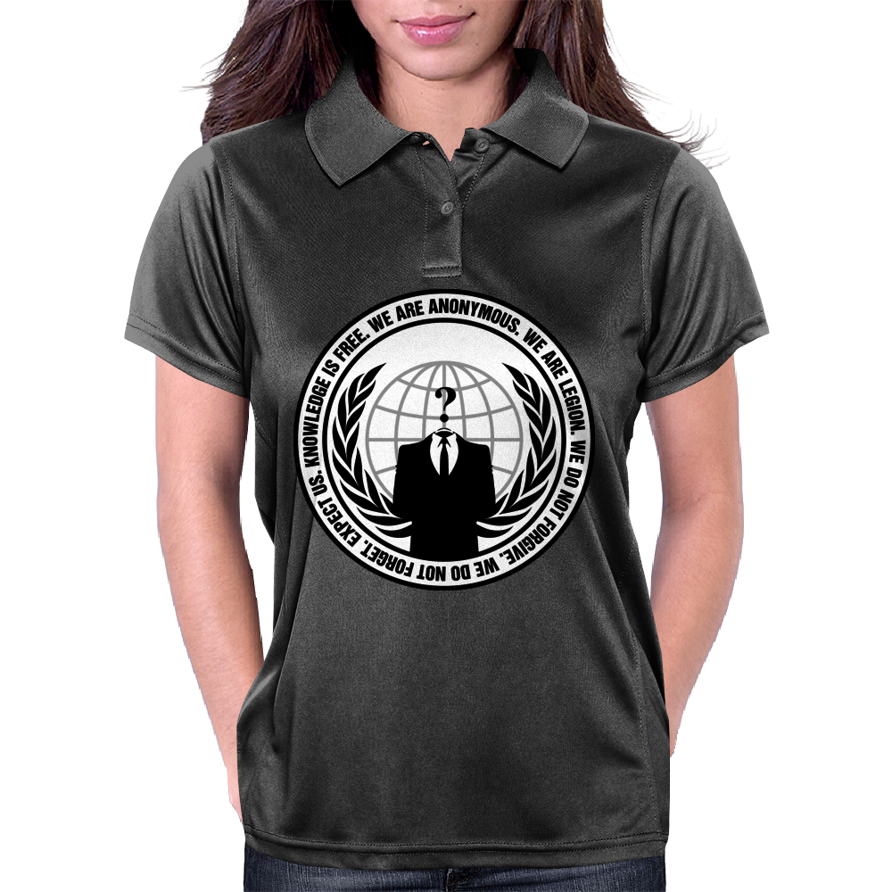 We Are Anonymous Womens Polo