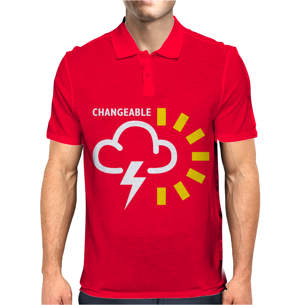 Weather Forecast Symbol Mens Polo