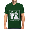 Wedding Funny GAME OVER Mens Polo