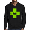 Weed Cross Cannabis Marijuana Mens Hoodie