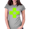 Weed Cross Cannabis Marijuana Womens Fitted T-Shirt