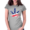 Weed Flagged Womens Fitted T-Shirt
