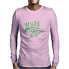 Weed Plant Typography Mens Long Sleeve T-Shirt