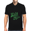 Weed Plant Typography Mens Polo