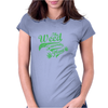 Weed Plant Typography Womens Fitted T-Shirt