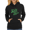 Weed Plant Typography Womens Hoodie