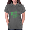 Weed Plant Typography Womens Polo