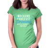 Weekend ... Drinking .. Womens Fitted T-Shirt