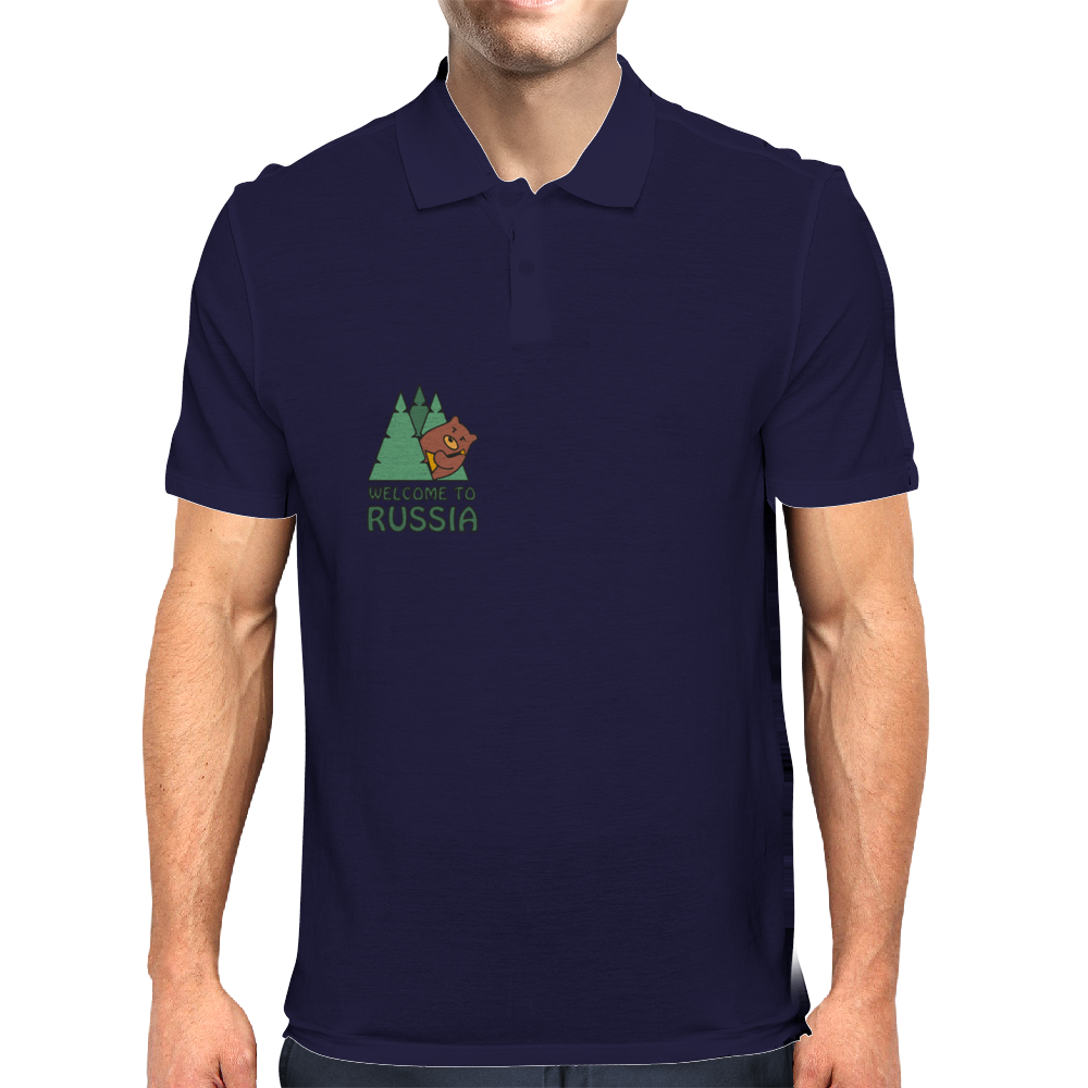 Welcome To Russia Mens Polo