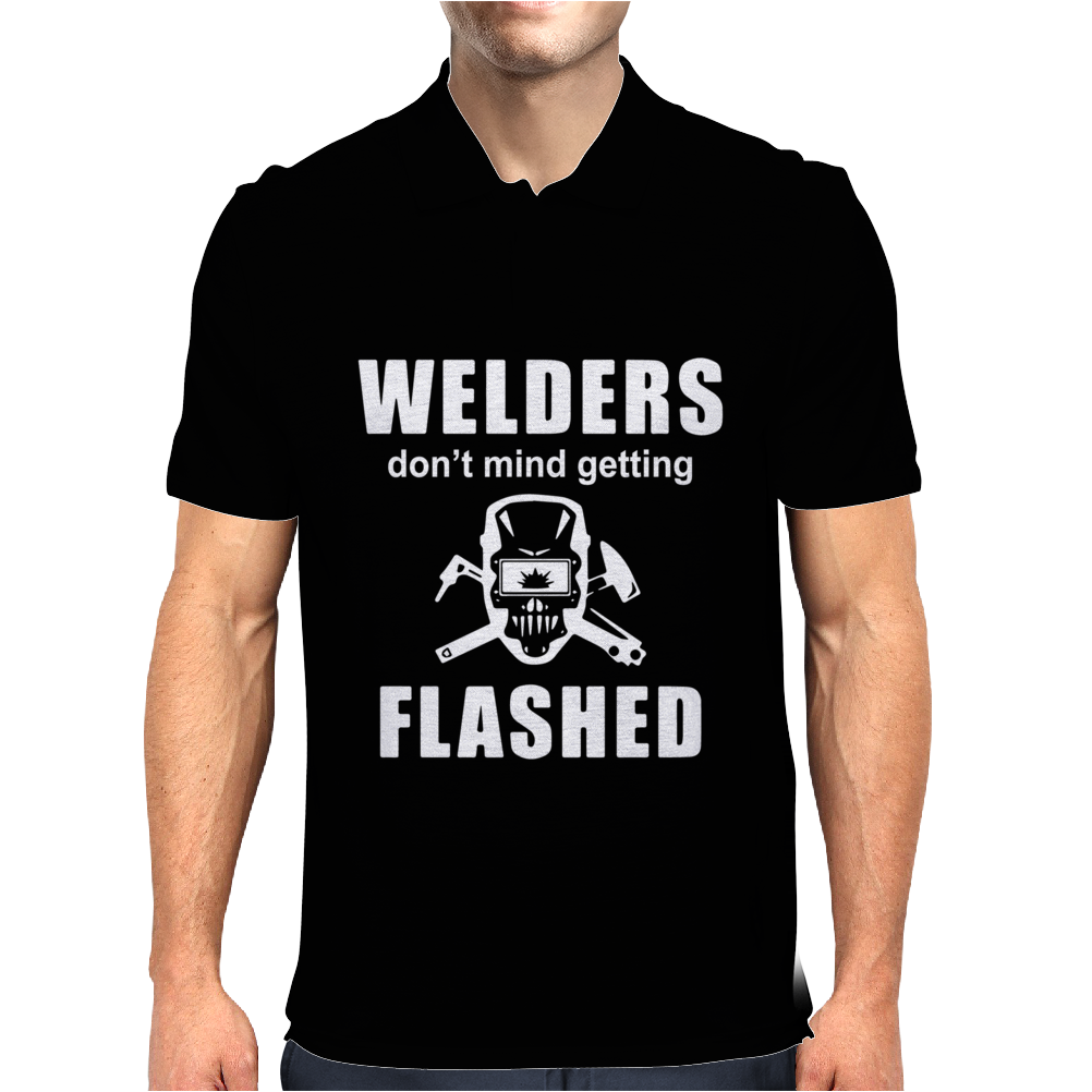 Welders don't mind getting FLASHED Mens Polo