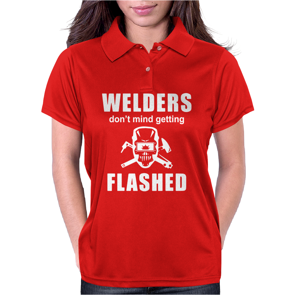 Welders don't mind getting FLASHED Womens Polo