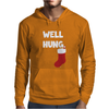 Well Hung Endowed Christmas Stocking Funny Mens Hoodie
