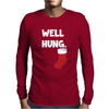 Well Hung Endowed Christmas Stocking Funny Mens Long Sleeve T-Shirt