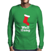 Well Hung Mens Long Sleeve T-Shirt