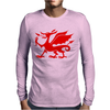 Welsh Dragon Mens Long Sleeve T-Shirt