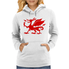 Welsh Dragon Womens Hoodie