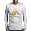 What Happens In Camper Stays In Camper Vintage Style Camp Funny Mens Long Sleeve T-Shirt