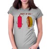 What Up Dog Ketchup Hot Dog Womens Fitted T-Shirt