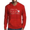 When I Die The Cat Gets Everything Mens Hoodie