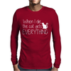 When I Die The Cat Gets Everything Mens Long Sleeve T-Shirt