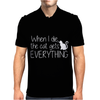 When I Die The Cat Gets Everything Mens Polo