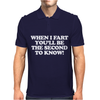 When I Fart, Funny Offensive Mens Polo