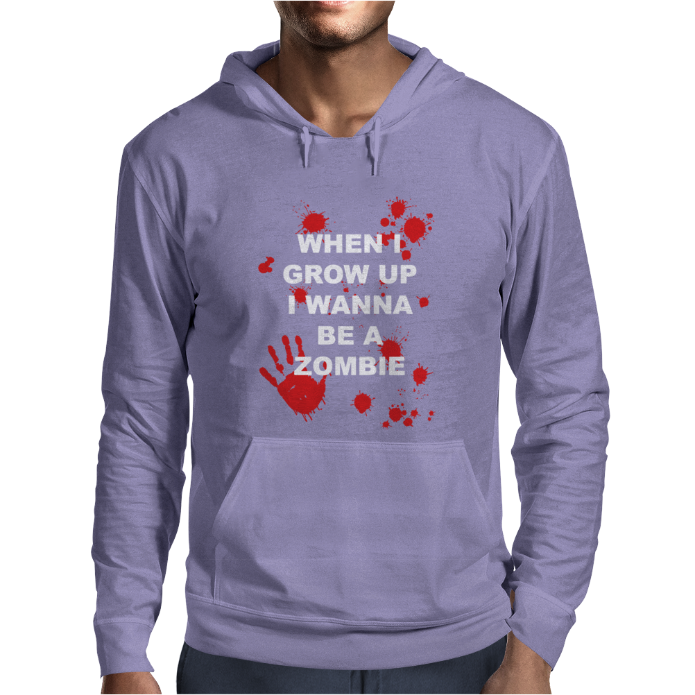 When I Grow Up I wanna Be A Zombie Mens Hoodie