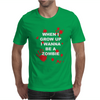 When I Grow Up I wanna Be A Zombie Mens T-Shirt