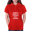 When I Grow Up I wanna Be A Zombie Womens Polo