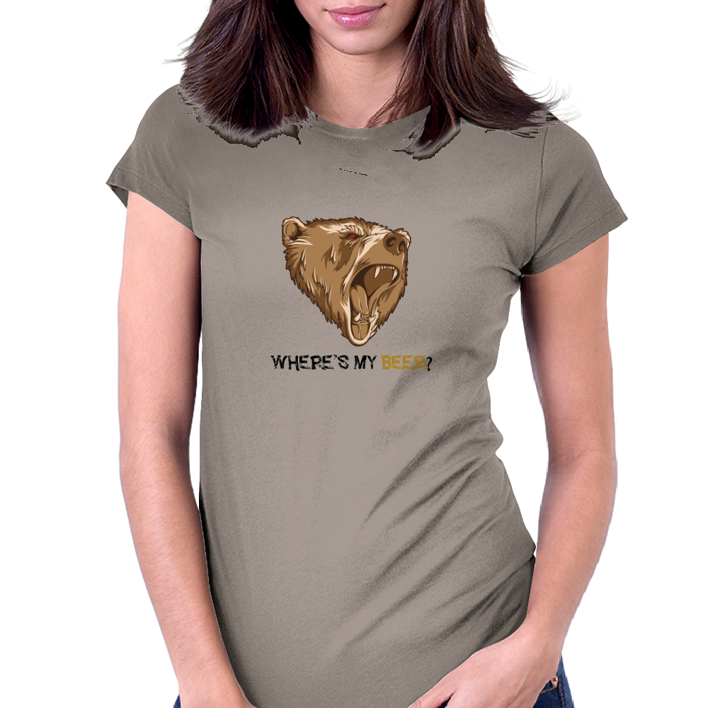 Where is my beer Womens Fitted T-Shirt
