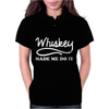 Whiskey Made Me Do It Funny Womens Polo