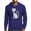 WHITE CAT funny Mens Hoodie