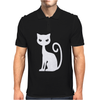 WHITE CAT funny Mens Polo