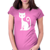 WHITE CAT funny Womens Fitted T-Shirt