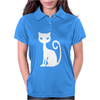WHITE CAT funny Womens Polo