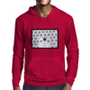 White Creature which is looking at you Mens Hoodie